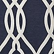 Geometric Jacquard Eyelet Curtains, NAVY MIX, swatch