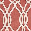 Geometric Jacquard Eyelet Curtains, TERRACOTTA, swatch