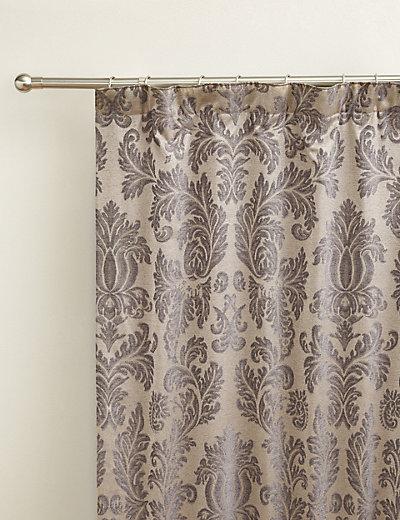 Elegant Damask Pencil Pleat Curtains | M&S
