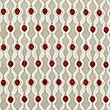 Chenille Dotty Eyelet Curtains, RED MIX, swatch