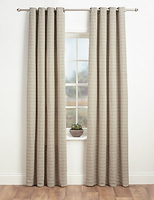 Chenille Dotty Eyelet Curtains, CREAM MIX, catlanding