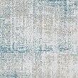 Painterly Jacquard Eyelet Curtains, BLUE, swatch