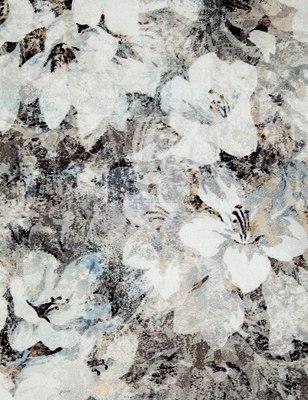 Floral Velvet Eyelet Curtains, GREY MIX, swatch