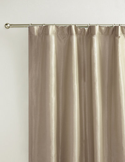 Blackout Curtains blackout curtains australia : Faux Silk Pencil Pleat Black-Out Curtains | M&S