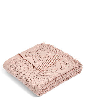 Woven Mia Throw, SOFT PINK, catlanding