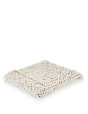 Woven Mia Throw, CREAM, catlanding