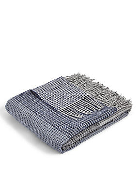 Block Striped Throw, GREY MIX, catlanding