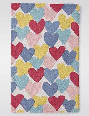 Multiple Heart Print Rug