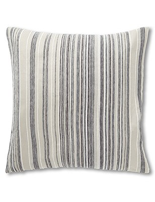 Pinstripe Chenille Cushion, NEUTRAL, catlanding