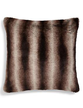 Large Faux Fur Cushion, , catlanding