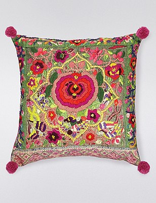 Brights Embroidery Cushion, , catlanding