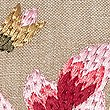 Embroidered Cushion, PINK MIX, swatch