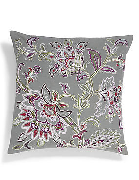Cara Embroidered Cushion, , catlanding