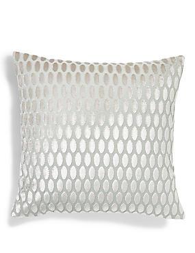 Velvet Oval Cushion, DUCK EGG, catlanding