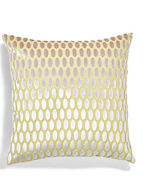 Velvet Oval Cushion, OCHRE, catlanding