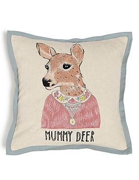 Mummy Deer Cushion, , catlanding