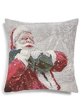 Santa Jacquard Cushion, , catlanding
