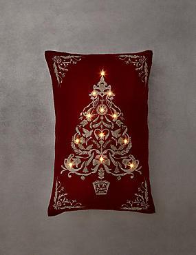 Tree Light-Up Cushion, , catlanding
