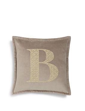 Letter B Cushion, , catlanding