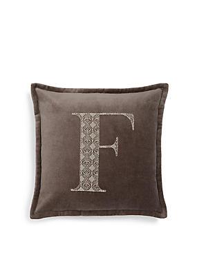 Letter F Cushion, , catlanding