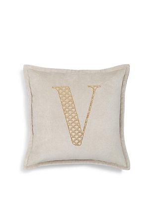Letter V Cushion, , catlanding