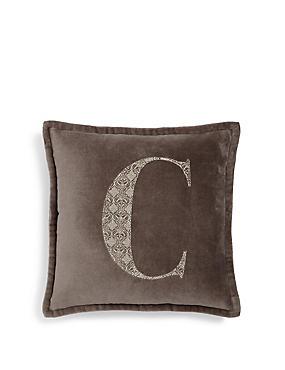 Letter C Cushion, , catlanding