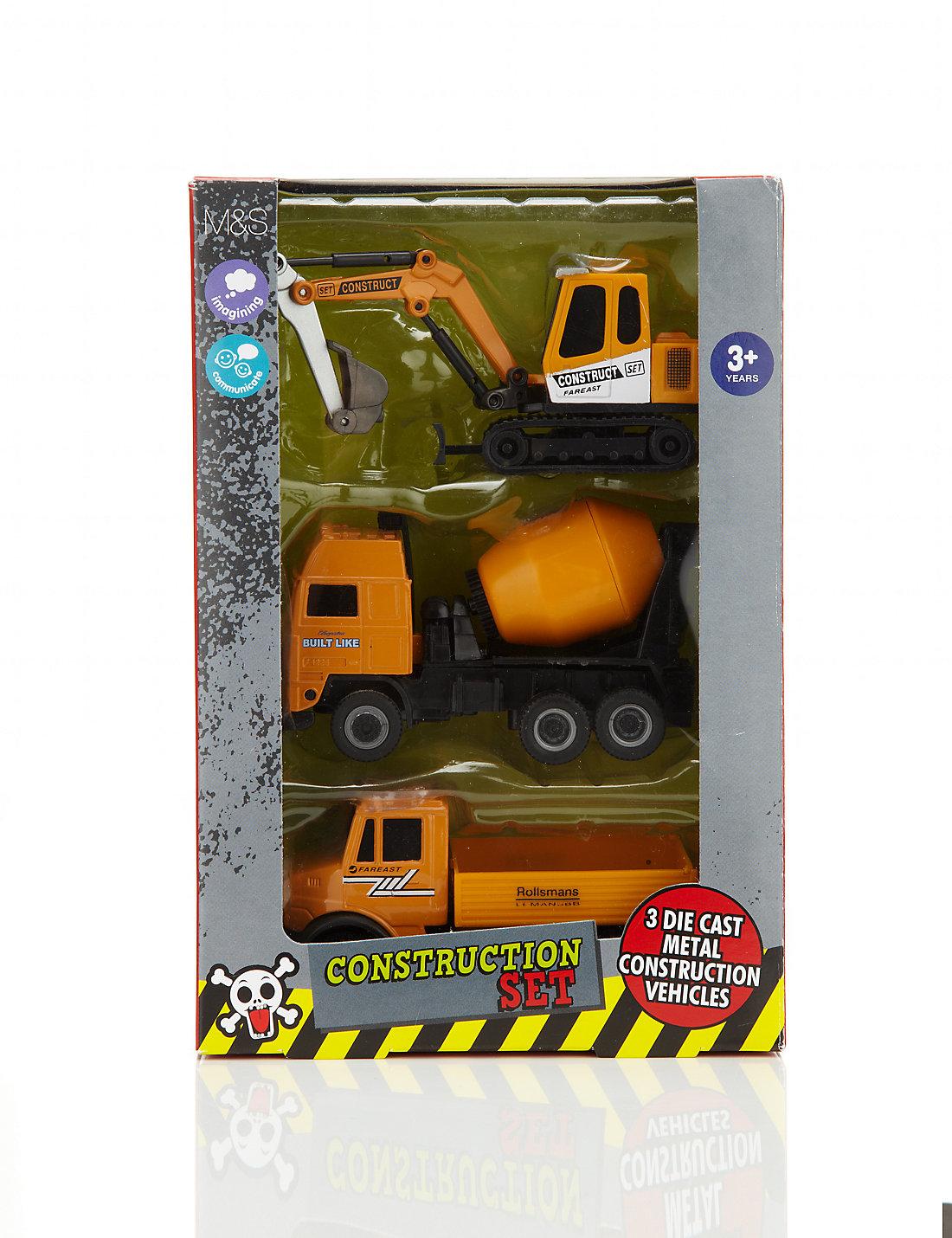 3 construction vehicles set m u0026s