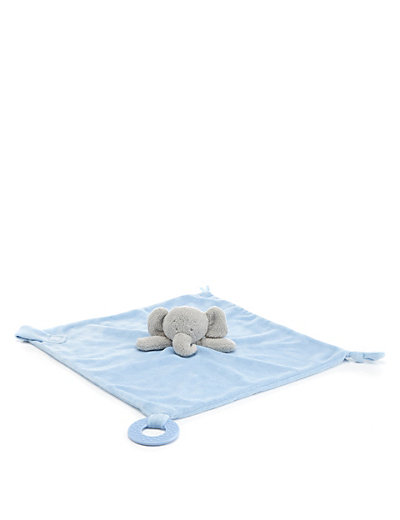 Elephant Deluxe Soft Blue Comforter Toy Home