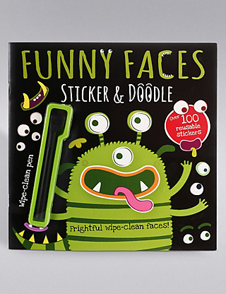 Funny Faces Alien Book Home