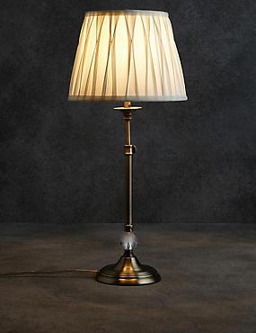 Paige stick lamp (base only), ANTIQUE BRASS, catlanding