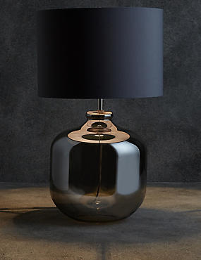Erin Table Lamp, SMOKE, catlanding