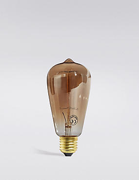 Vintage Style Tinted Valve Filament Bulb, , catlanding