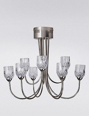 Olivia Cut Glass Tealight 9lt Candelabra, , catlanding