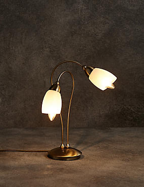 Andrea Table Lamp, ANTIQUE BRASS, catlanding