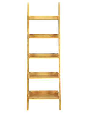 Step Ladder Shelving - Natural, , catlanding