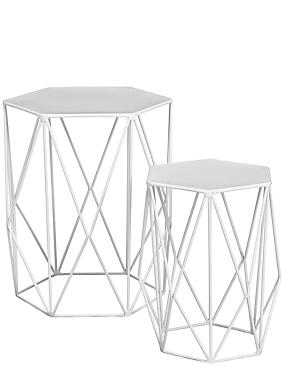 Side tables nest of tables glass oak side tables ms wire nest of tables white keyboard keysfo Choice Image
