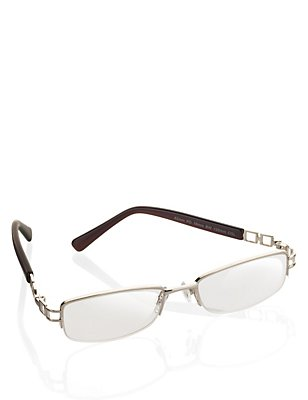 Half Frame Reading Glasses, GOLD, catlanding