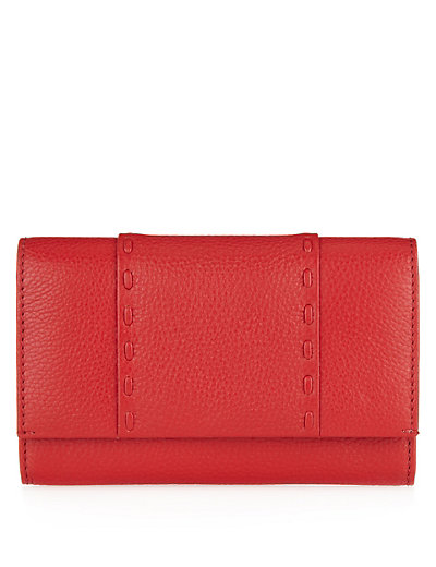 Leather Contrast Stitch Cardsafe™ Purse Clothing
