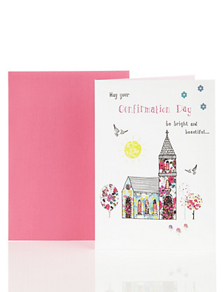 Contemporary Church Confirmation Day Card Home