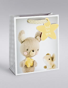 Baby Bunny & Mouse Medium Gift Bag