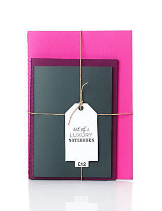 Set of 3 Luxury Soft Touch Notebooks Home