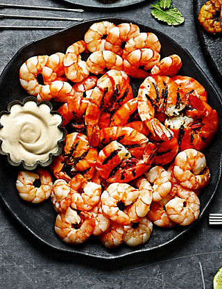 Luxury Tiger Prawn Platter Food