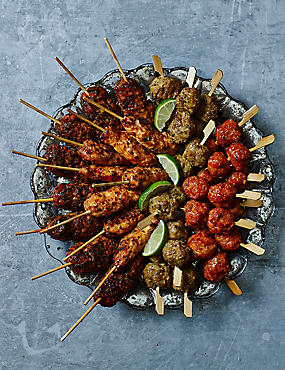 Chicken Kebab Selection (32 Pieces)