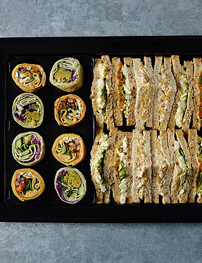 Vegetarian Sandwich & Wrap Platter (20 pieces) Food