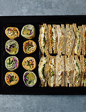 Vegetarian Sandwich & Wrap Platter (20 Pieces)