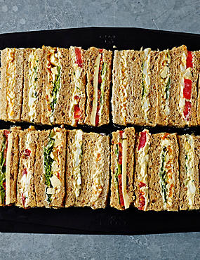 Vegetarian Finger Sandwich Selection (20 Sandwich Fingers)