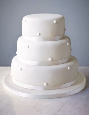 Romantic Pearl Assorted Wedding Cake White icing MS