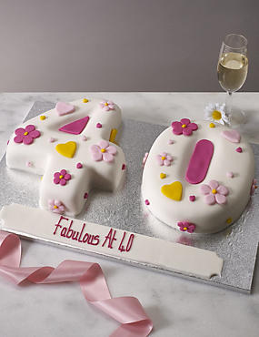 Hearts & Flowers Number Cake (Double Number)