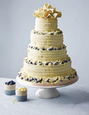 White Chocolate Ribbons Wedding Cake MS
