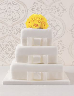 3 Tier Elegant Assorted Wedding Cake MS